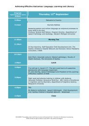 Thursday 12th September - CHERI - The Children's Hospital ...