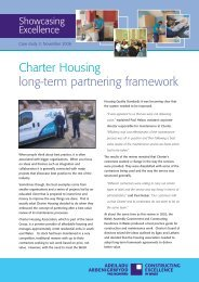 Charter Housing long-term partnering framework - Constructing ...