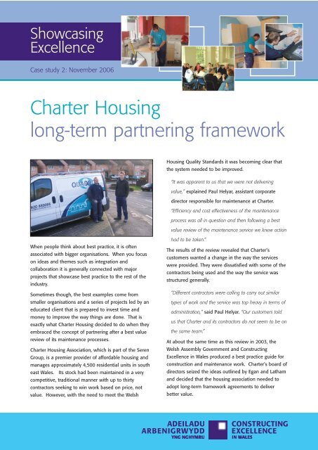 Charter Housing long-term partnering framework - Constructing ...
