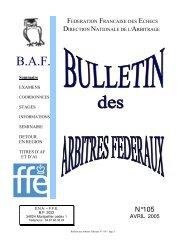 BAF 105 - Fédération Française des Échecs