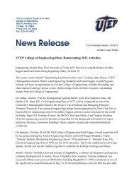 UTEP College of Engineering Hosts Homecoming 2012 Activities