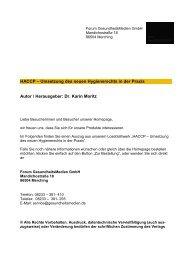 Leseprobe: Lieferantenbewertung HACCP Lebensmittelhygienerecht
