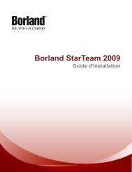 Installation de StarTeam Server - Borland Technical Publications