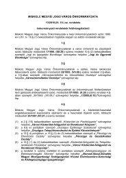 13/2010.(III. 10.) - az önkormányzati rendeletek ... - Miskolc.hu