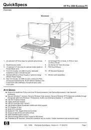 HP Pro 2000 Business PC