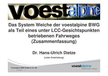 Das System Weiche der voestalpine BWG als Teil eines ... - Unife