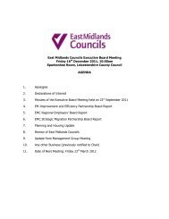 East Midlands Councils Executive Board Meeting Friday 16th ...