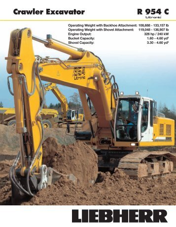 R 954 C Litronic Crawler Excavator - Lorusso Heavy Equipment