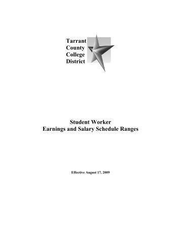 Tarrant County College District Student Worker Earnings and Salary ...