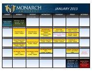 2013 T&D Calendar - Monarch Beverage
