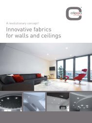 Innovative fabrics for walls and ceilings - Clipso