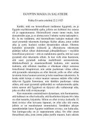 1925 02 22 Egyptin magia ja salatiede - Pekka Ervast