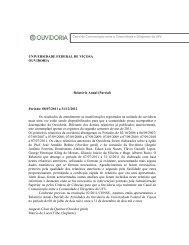 Relatório anual da Ouvidoria no período de 08/07/2011 ... - DTI - UFV