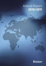 Annual Report 2010/2011 - Roblon A/S