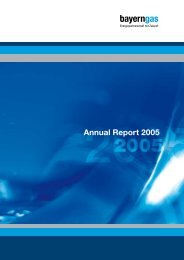 Annual Report 2005 - Bayerngas GmbH