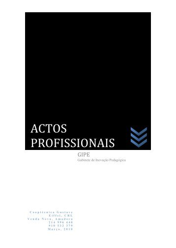 ACTOS PROFISSIONAIS - Escola Profissional Gustave Eiffel