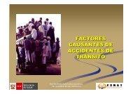 FACTORES CAUSANTES DE ACCIDENTES DE TRÁNSITO