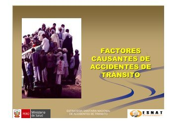 FACTORES CAUSANTES DE ACCIDENTES DE TRÁNSITO