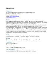 Proposition - Online Event Registration