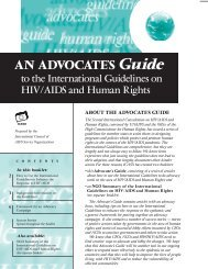 International Guidelines on HIV/AIDS and Human Rights - icaso