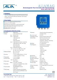 ALIAMAG - Blanes Pressure Solutions