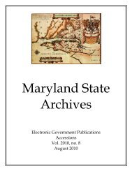 August - Maryland State Archives
