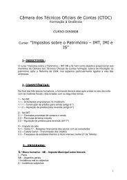 Impostos sobre o Património – IMT, IMI e IS - Ordem dos Técnicos ...