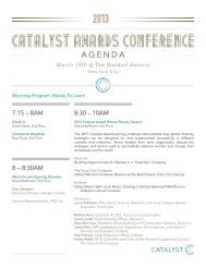 CATALYST AWARDS conference