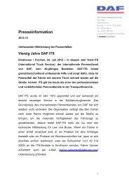 Vierzig Jahre DAF ITS - OTEMA GmbH