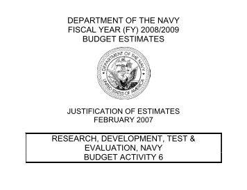 Research & Development, Navy (BA 6) - DON FM&C Website - U.S. ...