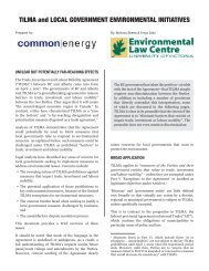 TILMA and Local Government Environmental Initiatives - The ...
