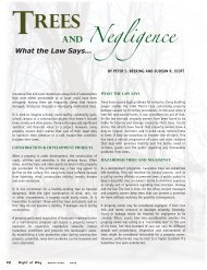Trees and Negligence - International Right of Way Association