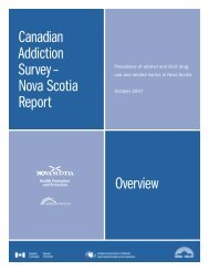 Canadian Addiction Survey - Nova Scotia Report - Government of ...