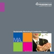 Sustainable Marketing & Leadership - Hochschule Fresenius