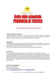 """Asilo nido aziendale """"L'isola incantata"""" - Provincia di Treviso"""