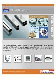 We are the Indian Tube Company a no.1 manufacturer, exporter and ...