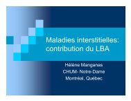 Maladies interstitielles: contribution du LBA