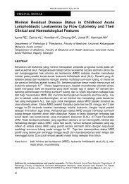Minimal Residual Disease Status in Childhood Acute Lymphoblastic ...