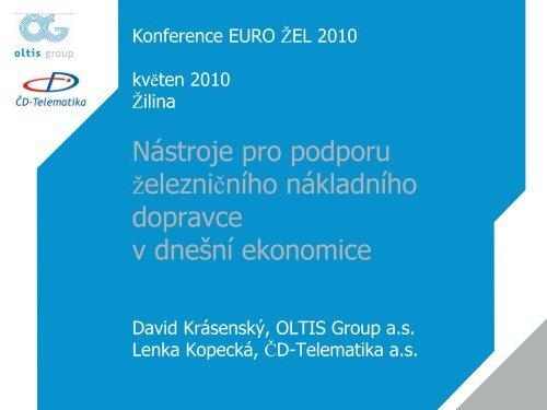 ISDL Information System of Transport and Logistics - EURO - Žel