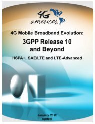 3GPP Release 10 and Beyond - 4G Americas