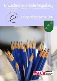 Erwachsenenschule Angerberg - der Volksschule Brixlegg