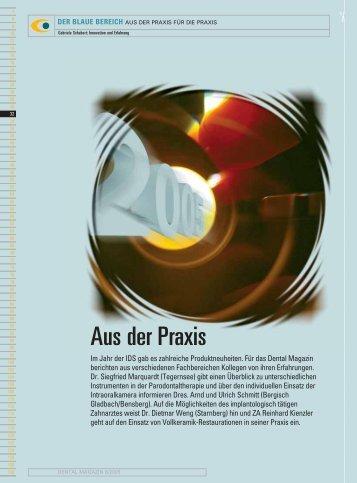 Aus der Praxis - Zahnheilkunde.de