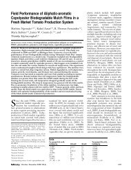 Field Performance of Aliphatic-aromatic ... - HortTechnology