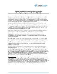 (Styrelsens förslag till riktlinjer för ersättning och ... - Tradedoubler