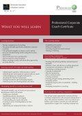 Professional Corporate Coach Certification Program ... - Progress-U - Page 4
