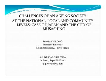 Overview and case study from Japanese communities - Subregional ...