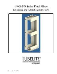 14000 I/O Series Flush Glaze Fabrication and Installation Instructions