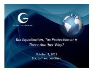 Tax Equalization, Tax Protection or is There Another Way?