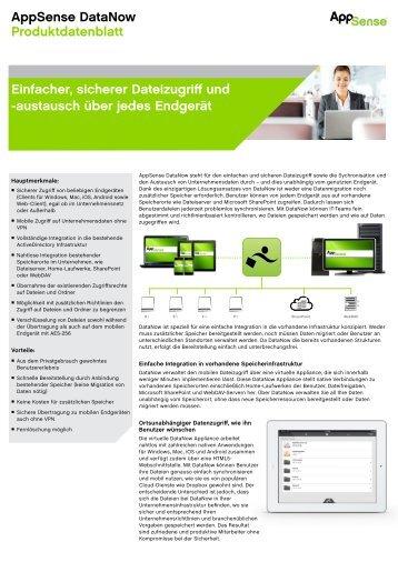 AppSense DataNow Produktdatenblatt Einfacher, sicherer ...