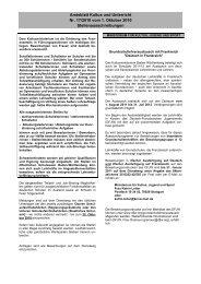 Amtsblatt Kultus und Unterricht Nr. 17/2010 vom 1 ... - Kultusportal